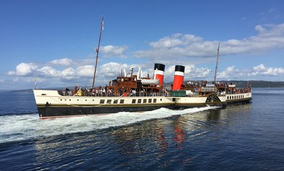 Enjoy a Day Out Aboard Paddle Steamer Waverley, 16 - 29 July, with Departure from Glasgow or Largs (Up to 33% Off)