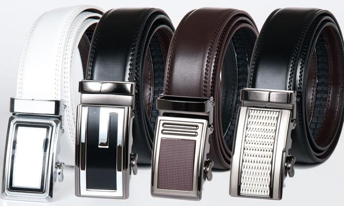 Alberto Cardinali Men's Genuine Leather Ratchet Belt
