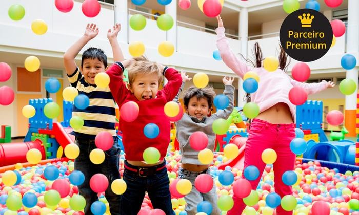 Buffet Infantil Planeta Festa - Buffet Infantil Planeta Festa: Buffet Infantil Planeta Festa – Caiçaras: festa infantil completa para até 100 pessoas por 12x sem juros de R$ 274,92