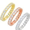 Elements of Love Eternity Ring Made with Swarovski Elements (3-Piece)