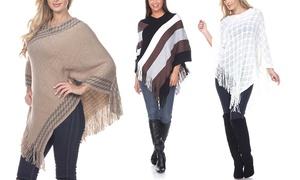 Women's One-Size Fashion Fringe Poncho
