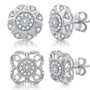1/3 CTTW Diamond Stud Earrings in Sterling Silver by DeCarat