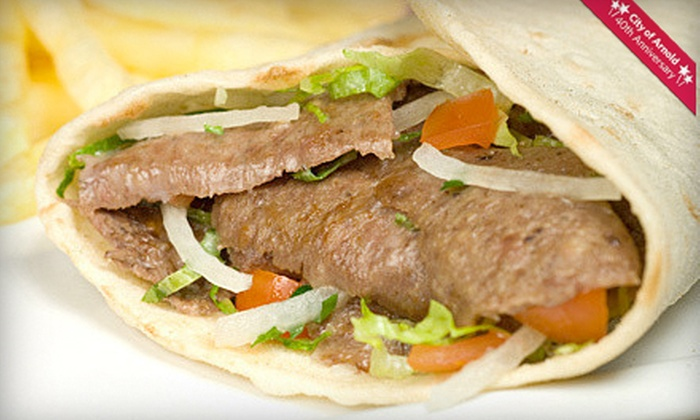 Gyros To Go - Arnold: Three Gyros Combos with Chips or $6 for $12 Worth of Gyros and Greek Food at Gyros To Go