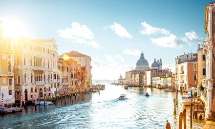 ?Venecia y Roma: 4 o 6 noches con desayuno, vuelo de ida y vuelta y traslado entre ciudades para 1 persona