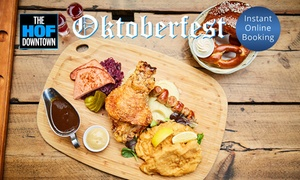 The Hof Downtown: From $58 for a Bavarian Oktoberfest Platter with Pretzels and Schnapps, Docklands (Up to $128 Value)