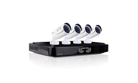Night Owl 8-Channel Video Surveillance System with 4 Cameras and 1TB Hard Drive (Manufacturer Refurbished)
