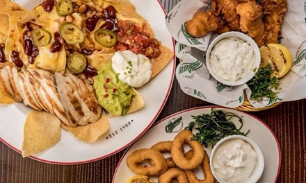 Up to AED 300 Toward American Food and Drinks at OLearys Restaurant (Up to 48% Off)