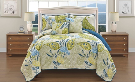 5-Piece Reversible Quilt Set. Multiple Options Available. Free Returns.