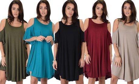 Lyss Loo Sun-Kissed Shoulders Dress