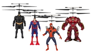 Marvel or DC Comics 2CH IR RC Helicopter Flying Figure