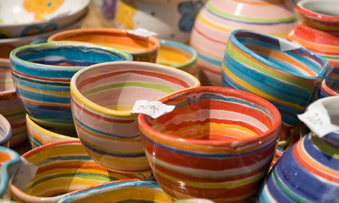 VisArts at Rockville - Central Rockville: Mud & Merlot Ceramics Class with Wine for One or Two at VisArts at Rockville (Up to 54% Off)