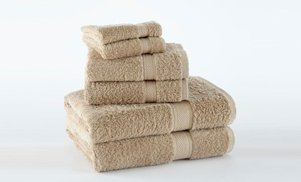 100% Supima Cotton 6-Piece Towel Set. Multiple Colors Available. Free Shipping and Returns.
