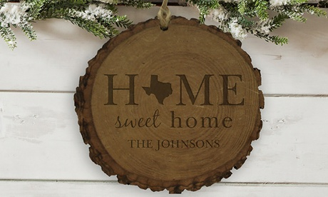 One or Two Rustic Wood Ornaments from GiftsForYouNow.com (Up to 53% Off) cf0a5591-71a3-4301-8a6b-9f64dd6cc2e3