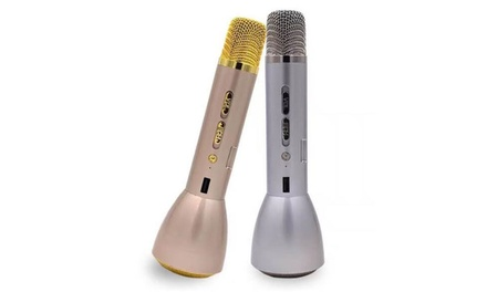 Wireless Bluetooth Mini Karaoke Microphone, Player and Speaker from AED 129 (Up to 56% Off)