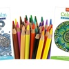 Coloring Book 2-Pack with 36 Japanese Core Pencils