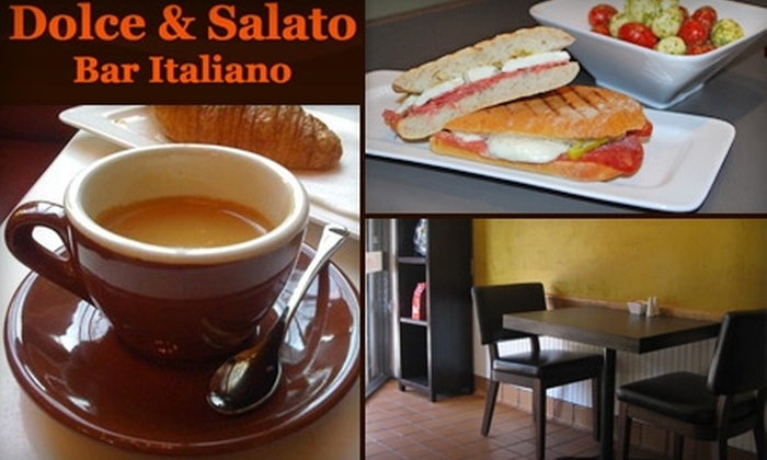 Dolce & Salato Bar Italiano - Multiple Locations: $7 for $15 Worth of Cuisine at Dolce & Salato Bar Italiano (or $20 for $40 Worth of Catering)