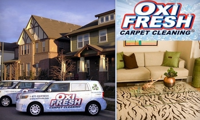 Oxi Fresh Carpet Cleaning - Cincinnati: $59 for Two Rooms of Carpet Cleaning and Two Rooms of Protectant Application from Oxi Fresh ($118 Value)