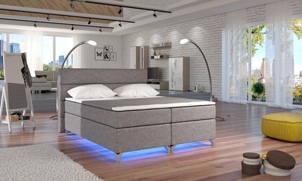 kunstlederbett f r 2 personen 140 x 200 oder 180 x 200 cm in schwarz oder wei deutschland. Black Bedroom Furniture Sets. Home Design Ideas
