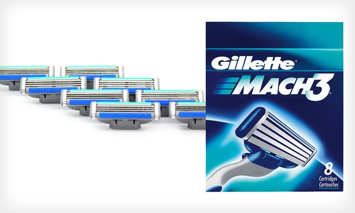 8-Pack of Gillette Mach3 Refill Blades: $13.99 for an 8-Pack of Gillette Mach3 Refill Blades ($22.66 List Price)