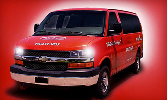 The Big Red Wagon - Phoenix: $39 for Shuttle Services from The Big Red Wagon ($80 Value). Two Options Available.