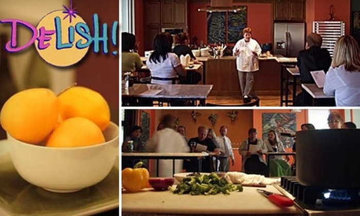 Delish! Culinary Center - Grant Ferry: $30 for Two People to Attend a Cooking Class at Delish! Cooking School ($70 Value)