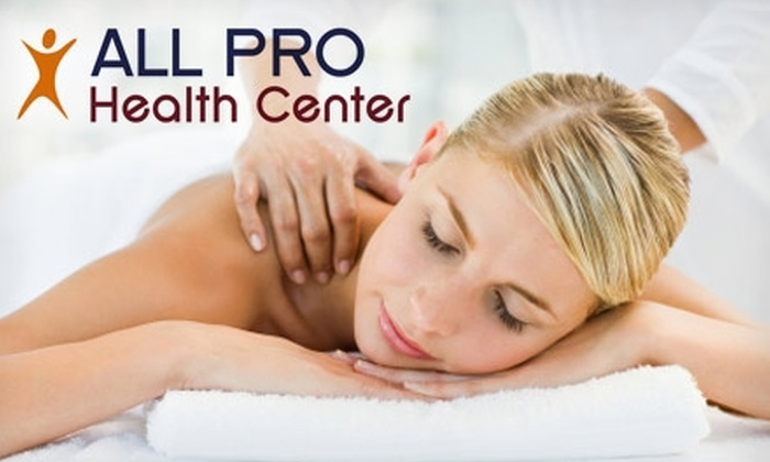 ALL PRO Health Center - Arcadia: $40 for Surface EMG Body Scan and 60-Minute Swedish, Deep-Tissue, or Sports Massage at ALL PRO Health Center (Up to $210 Value)