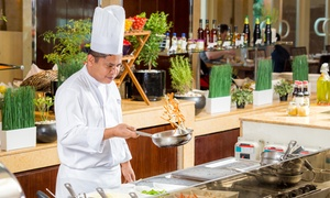 The Beach Club at Khalidiya Palace Rayhaan by Rotana: Brunch with Optional Pool Access for Up to Four at The Beach Club at Khalidiya Palace Rayhaan (Up to 66% Off)