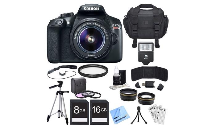 Canon EOS Rebel T6 18MP 1080p DSLR Single-Lens Bundle