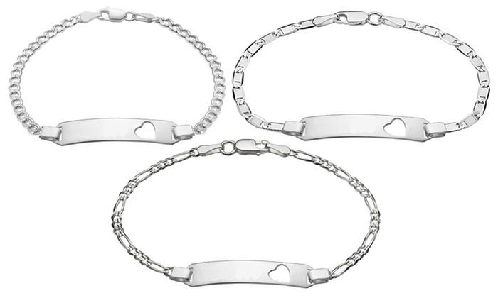 Sterling Silver Childrens ID Bracelet