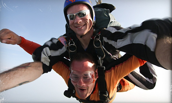 Skydive Alabama - Vinemont: $130 for a Tandem Skydiving Adventure from Skydive Alabama in Vinemont ($294 Value)