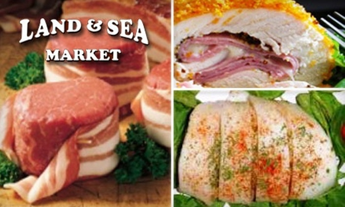 Land and Sea Market - Multiple Locations: $10 for One Market Sampler from Land and Sea Market. Choose from Five Locations.