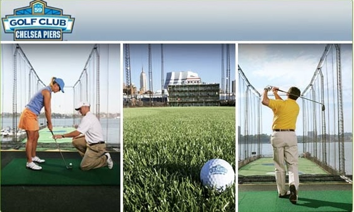 Golf Club At Chelsea Piers - Ludlow: $35 for Golf Lesson and Driving-Range Time