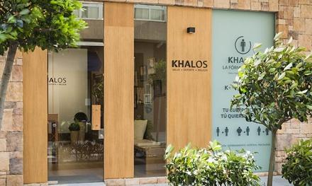 1 sesión de radiofrecuencia facial Indiba con ácido hialurónico y masaje facial en Khalos (40% de descuento)