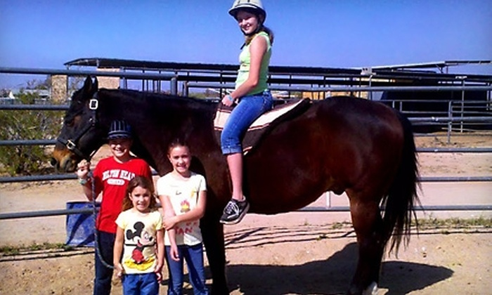 Centoz Ranch - Phoenix: $22 for a Horseback-Riding Lesson ($45 Value) or $10 for a Children's Pony Ride ($20 Value) at Centoz Ranch in Queen Creek
