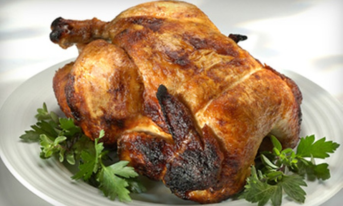 Chicken Out Rotisserie - Multiple Locations: One à la Carte Rotisserie Chicken or Two Whole Wheat Wraps or Entree Salads at Chicken Out Rotisserie