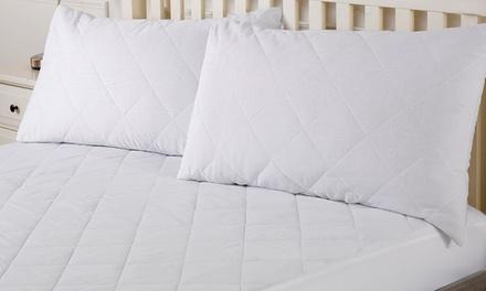 prot ge oreiller ou matelas matelass groupon shopping. Black Bedroom Furniture Sets. Home Design Ideas