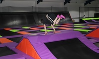 One-Hour Term Time Trampoline Access with Grip Socks Hire for One, Two or Four at Jump Factory (35% Off)