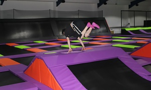 Jump Factory: One-Hour Term Time Trampoline Access with Grip Socks Hire for One, Two or Four at Jump Factory (35% Off)