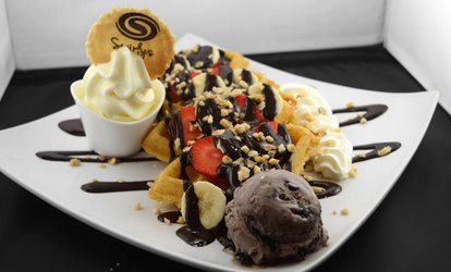 image for Choice of Cookie Dough with Milkshake or Hot Drink for One, Two or Four at Swirlys (Up to 56% Off)