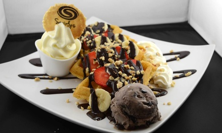Choice of Waffle or Cookie Dough with Milkshake or Hot Drink for One, Two or Four at Swirlys (Up to 56% Off)