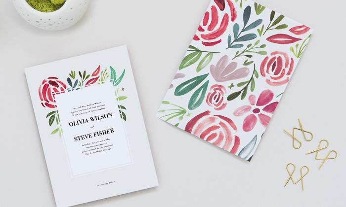 50 off custom wedding invitations other wedding stationery groupon - Groupon Wedding Invitations