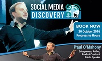 Social Media Discovery Day on 20 October at 9 a.m. or 2 p.m., Progressive Property
