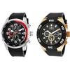 Invicta Men's Polyurethane Band Chronograph Watches