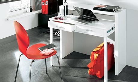 Consola convertible en escritorio