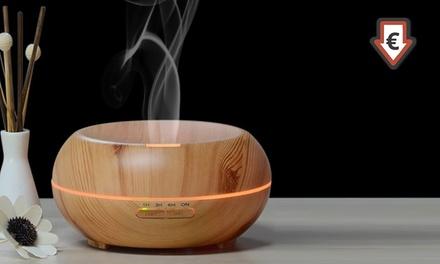 Ultraschall-Luftbefeuchter mit Aroma-Öl-Diffusor in Holzoptik inkl. Versand