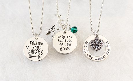 Inspirational Hand-Stamped Pendants