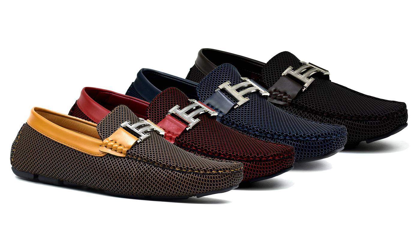 Men's Slip-On Buckle Loafers
