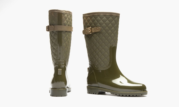 7e6cccecac7 Sociology Katelyn Women's Quilted Rain Boot (Size 6) | Groupon