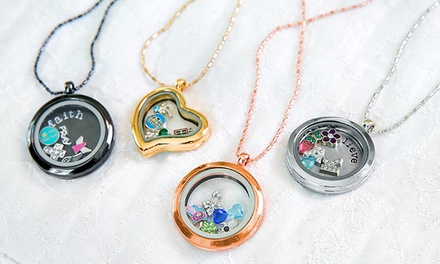 Round Locket Necklace and Custom Plate from Stamp the Moment for $19.99–$24.99