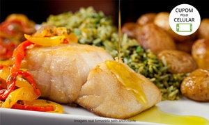 Barbatana Restaurante: Barbatana Restaurante -Casa Verde: bacalhau em postas para 2 ou 4 pessoas